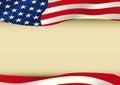 American waving flag Royalty Free Stock Photo