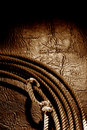 American West Rodeo Cowboy Lariat Lasso Background Stock Photography