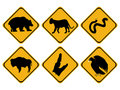 American wildlife signs Royalty Free Stock Image