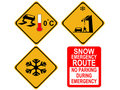 American winter warning signs Royalty Free Stock Photo