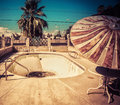 Americana south west decay swimming pool rundown derelict Stock Photography