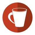 Americano coffee cup cream-circle icon shadow