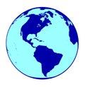 The Americas Globe