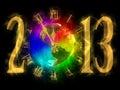 Amerika lyckligt nytt år 2013 Arkivfoto