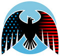 Amerikaans adelaarsontwerp Stock Foto's