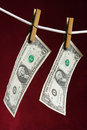 Amerikaanse dollar twee Stock Foto's