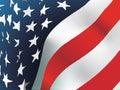 Amerikaanse vlag, vector Royalty-vrije Stock Foto's