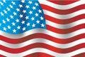 Amerikaanse vlag, vector Royalty-vrije Stock Afbeelding