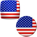 Amerikaanse vlagstickers Royalty-vrije Stock Foto