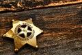 Amerikanischer west texas ranger antique lawman badge Lizenzfreies Stockfoto