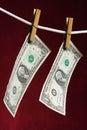 Amerikansk dollar två Arkivfoton