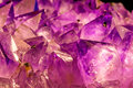 Amethyst closeup of the gem stone Stock Images