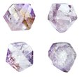 Amethyst geode geological crystals semigem mineral isolated Stock Photography