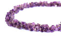 Amethyst necklace on white background Stock Images