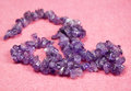 Amethyst stone necklace Royalty Free Stock Photo