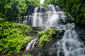 Amicalola falls slow shutter speed of in georgia in summer Stock Image