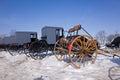 Amish Buggies and Carts Royalty Free Stock Photo