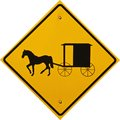 Amish Cart and Buggy Sign Stock Image