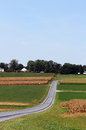Amish Country Farm Landscape Stock Photo