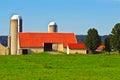 Amish Farm And Silos