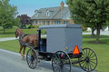 Amish horse drawn carriage a picture of a Stock Photos