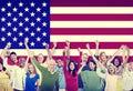 Amitié multi ethnique team america concept de personnes de groupe Photo libre de droits