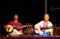 Amjad Ali Khan with his son performs at Bahrain Stock Photo
