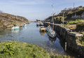 Amlwch Port on Anglesey, Wales, UK on a sunny day.in Spring. Royalty Free Stock Photo