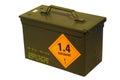 Ammo box nato isolated on white background Royalty Free Stock Photo