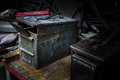 Ammo crate in art abstract Stock Photography