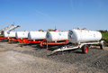Ammonia anhydrous transport tanks outside a chemical and fertilizer company in klamath falls or Royalty Free Stock Photography