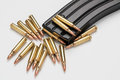 Ammunition in magazine .223/556 Royalty Free Stock Photo