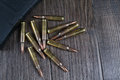 Ammunition and magazines 223 rem Royalty Free Stock Photo