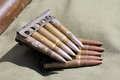 Ammunition old from the second world war Royalty Free Stock Photos
