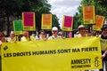 Amnesty International at Paris Gay Pride 2009 Royalty Free Stock Image