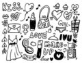 Amor do Doodle Foto de Stock Royalty Free