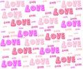 Amor para la tarjeta del día de san valentín Imágenes de archivo libres de regalías