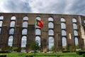 Amoreira Aqueduct in Elvas. Portugal Royalty Free Stock Photo
