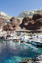 Amoudi bay oia santorini greek island Royalty Free Stock Photo
