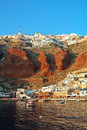 Amoudi bay in oia village santorini island greece Royalty Free Stock Photography