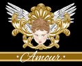 Amour. Vector hand drawn illustration of cupid with wings isolated.
