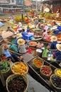 Amphawa Floating market, Amphawa, Thailand Royalty Free Stock Photo