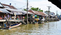 Amphawa Floting Market in Thailand Royalty Free Stock Photo