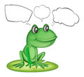 An amphibian and the empty callouts illustration of on a white background Royalty Free Stock Photography