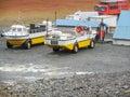 Amphibian vehicle amphibious vehicles seen in iceland Stock Photography
