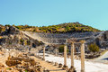 Amphitheater in ancient ephesus turkey Stock Photography