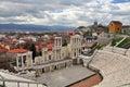 Amphitheater ancient roman in plovdiv bulgaria Stock Photo