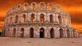 Amphitheater of el djem unesco world heritage center Royalty Free Stock Photo