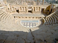 Amphitheater in Jerash Stock Photo