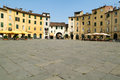 Amphitheater square at lucca on italy Stock Photos